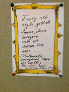 Would empty gold frames inspire more participation than index cards?